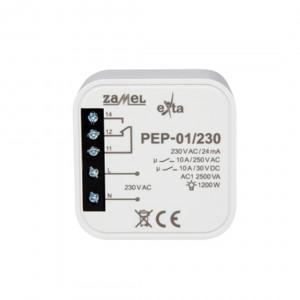 Zamel Exta PEP-01/230 - Przekaźnik jednotorowy z cewką 230V AC/DC, Montaż w puszcze p/t fi60 - Podgląd zdjęcia nr 3
