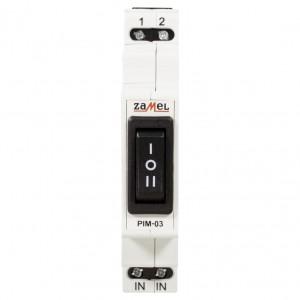 Zamel Exta PIM-03 - Przełacznik instalacyjny 1-0-2, Montaż na szynie TH - Podgląd zdjęcia nr 2