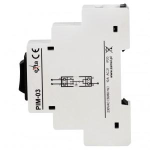 Zamel Exta PIM-03 - Przełacznik instalacyjny 1-0-2, Montaż na szynie TH - Podgląd zdjęcia nr 4