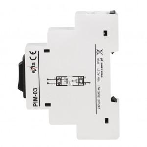 Zamel Exta PIM-03 - Przełacznik instalacyjny 1-0-2, Montaż na szynie TH - Podgląd zdjęcia nr 5