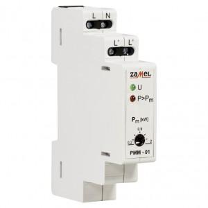 Zamel Exta PMM-01 - Ogranicznik mocy 1-fazowy, Montaż na szynie TH (0,2-2kW) - Podgląd zdjęcia nr 3