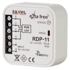 Zamel Exta Free RDP-11 - Bezprzewodowy sterownik LED RGB ze ściemniaczem 10-14V DC (3x 2,5A, 10-14V DC) - Podgląd zdjęcia nr 1