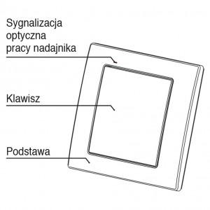 Zamel Exta Free RNK-02 - Bezprzewodowy nadajnik klawiszowy 2-kanałowy, 1-klawiszowy, Natynkowy w kolorze Ecru - Podgląd zdjęcia nr 5