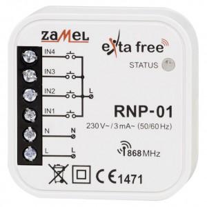 Zamel Exta Free RNP-01 - Bezprzewodowy nadajnik dopuszkowy 4-kanałowy, podtynkowy - Podgląd zdjęcia nr 2