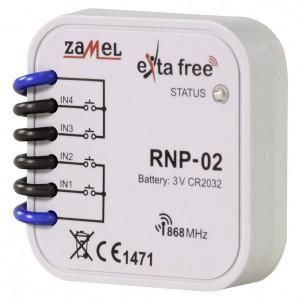 Zamel Exta Free RNP-02 - Bezprzewodowy nadajnik dopuszkowy 4-kanałowy, podtynkowy - Podgląd zdjęcia nr 1