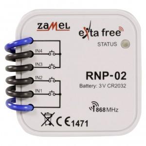 Zamel Exta Free RNP-02 - Bezprzewodowy nadajnik dopuszkowy 4-kanałowy, podtynkowy - Podgląd zdjęcia nr 2