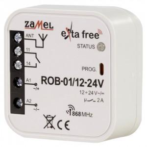 Zamel Exta Free ROB-01/12-24V - Bezprzewodowy odbiornik bramowy 12-24V (2A/500W, 230V AC) - Podgląd zdjęcia nr 1