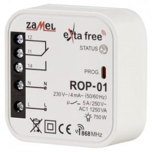 Zamel Exta Free ROP-01 - Bezprzewodowy odbiornik dopuszkowy 1-kanałowy (5A/1250W, 230V AC) - Podgląd zdjęcia nr 1