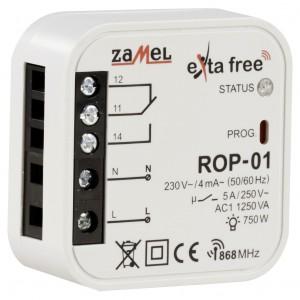Zamel Exta Free ROP-01 - Bezprzewodowy odbiornik dopuszkowy 1-kanałowy (5A/1250W, 230V AC) - Podgląd zdjęcia nr 3