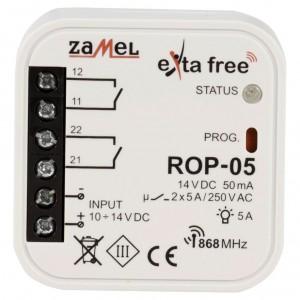 Zamel Exta Free ROP-05 - Bezprzewodowy odbiornik dopuszkowy niskonapięciowy 2-kanałowy 10-14V DC (5A, 10-14V DC) - Podgląd zdjęcia nr 2