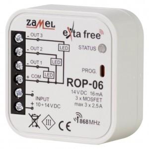 Zamel Exta Free ROP-06 - Bezprzewodowy odbiornik dopuszkowy niskonapięciowy 3-kanałowy 10-14V DC (2,5A, 10-14V DC) - Podgląd zdjęcia nr 1