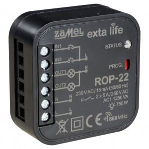 Zamel Exta Life ROP-22 - Bezprzewodowy odbiornik dopuszkowy 2-kanałowy, 2-kierunkowy (5A/1250W, 230V AC) - Podgląd zdjęcia nr 3
