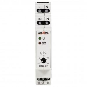 Zamel Exta RTM-02 - Regulator temperatury z zakresu od -10*C do +40*C, Bez sondy pomiarowej, Modułowy, Montaż na szynie TH - Podgląd zdjęcia nr 2