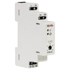 Zamel Exta RTM-02 - Regulator temperatury z zakresu od -10*C do +40*C, Bez sondy pomiarowej, Modułowy, Montaż na szynie TH - Podgląd zdjęcia nr 3
