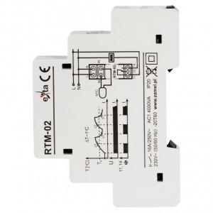 Zamel Exta RTM-02 - Regulator temperatury z zakresu od -10*C do +40*C, Bez sondy pomiarowej, Modułowy, Montaż na szynie TH - Podgląd zdjęcia nr 4