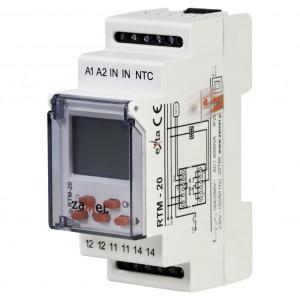 Zamel Exta RTM-20 - Regulator temperatury z zakresu od +5*C do +60*C, Bez sondy pomiarowej, Modułowy, Montaż na szynie TH - Podgląd zdjęcia nr 1