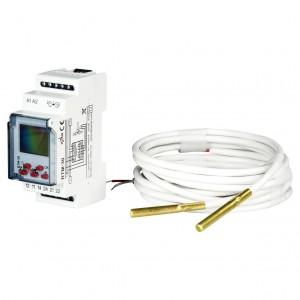 Zamel Exta RTM-30/S - Regulator temperatury z zakresu od +5*C do +95*C, 2x Sonda pomiarowa w komplecie, Modułowy, Montaż na szynie TH - Podgląd zdjęcia nr 1