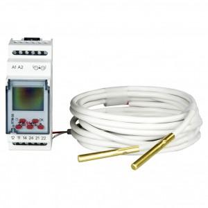 Zamel Exta RTM-30/S - Regulator temperatury z zakresu od +5*C do +95*C, 2x Sonda pomiarowa w komplecie, Modułowy, Montaż na szynie TH - Podgląd zdjęcia nr 2