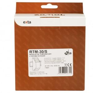 Zamel Exta RTM-30/S - Regulator temperatury z zakresu od +5*C do +95*C, 2x Sonda pomiarowa w komplecie, Modułowy, Montaż na szynie TH - Podgląd zdjęcia nr 6