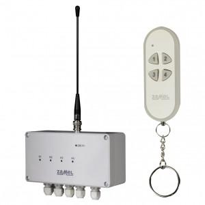 Zamel Exta Free RWS-311C/Z - Bezprzewodowy, radiowy wyłącznik sieciowy 4-kanałowy w komplecie z pilotem (16A/4000W, 230V AC) - Podgląd zdjęcia nr 2