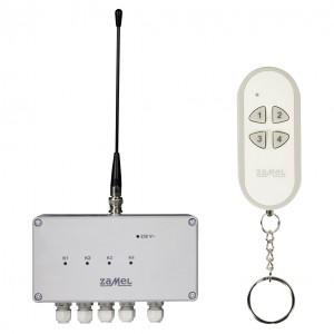 Zamel Exta Free RWS-311C/Z - Bezprzewodowy, radiowy wyłącznik sieciowy 4-kanałowy w komplecie z pilotem (16A/4000W, 230V AC) - Podgląd zdjęcia nr 4