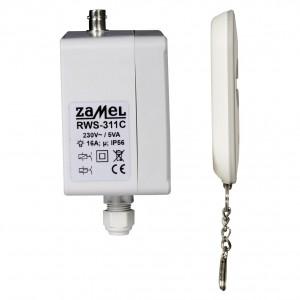 Zamel Exta Free RWS-311C/Z - Bezprzewodowy, radiowy wyłącznik sieciowy 4-kanałowy w komplecie z pilotem (16A/4000W, 230V AC) - Podgląd zdjęcia nr 7