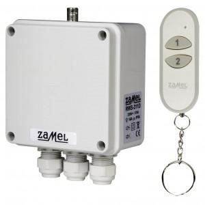 Zamel Exta Free RWS-311D/Z - Bezprzewodowy, radiowy wyłącznik sieciowy 2-kanałowy w komplecie z pilotem (16A/4000W, 230V AC) - Podgląd zdjęcia nr 1