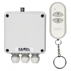 Zamel Exta Free RWS-311D/Z - Bezprzewodowy, radiowy wyłącznik sieciowy 2-kanałowy w komplecie z pilotem (16A/4000W, 230V AC) - Podgląd zdjęcia nr 3
