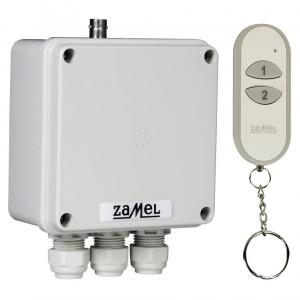 Zamel Exta Free RWS-311D/Z - Bezprzewodowy, radiowy wyłącznik sieciowy 2-kanałowy w komplecie z pilotem (16A/4000W, 230V AC) - Podgląd zdjęcia nr 5