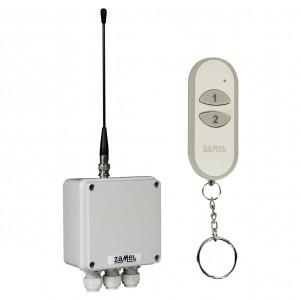 Zamel Exta Free RWS-311D/Z - Bezprzewodowy, radiowy wyłącznik sieciowy 2-kanałowy w komplecie z pilotem (16A/4000W, 230V AC) - Podgląd zdjęcia nr 6