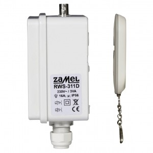 Zamel Exta Free RWS-311D/Z - Bezprzewodowy, radiowy wyłącznik sieciowy 2-kanałowy w komplecie z pilotem (16A/4000W, 230V AC) - Podgląd zdjęcia nr 7