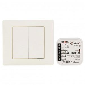 Zamel Exta Free RZB-04 - Kompletny zestaw sterowania bezprzewodowego (Radiowy nadajnik klawiszowy 4-kanałowy RNK-04 oraz Radiowy odbiornik dopuszkowy 2-kanałowy ROP-02) - Podgląd zdjęcia nr 2