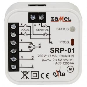 Zamel Exta SRP-01 - Sterownik rolet/żaluzji z opcją sterowania centralnego, Przewodowy, Montaż w puszcze p/t fi60 - Podgląd zdjęcia nr 2