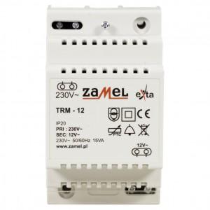 Zamel Exta TRM-12 - Transformator 12VAC/1,25A/15VA, Montaż natynkowy lub na szynie TH - Podgląd zdjęcia nr 2
