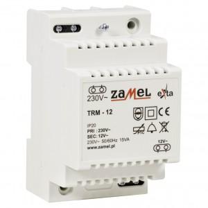 Zamel Exta TRM-12 - Transformator 12VAC/1,25A/15VA, Montaż natynkowy lub na szynie TH - Podgląd zdjęcia nr 3