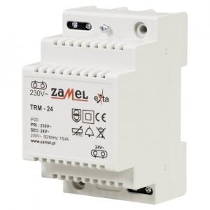 Zamel Exta TRM-24 - Transformator 24VAC/0,625A/15VA, Montaż natynkowy lub na szynie TH - Podgląd zdjęcia nr 1