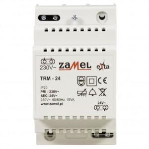 Zamel Exta TRM-24 - Transformator 24VAC/0,625A/15VA, Montaż natynkowy lub na szynie TH - Podgląd zdjęcia nr 2