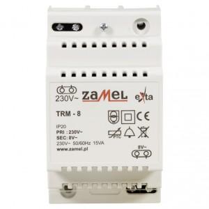 Zamel Exta TRM-8 - Transformator 8VAC/1,88A/15VA, Montaż natynkowy lub na szynie TH - Podgląd zdjęcia nr 2