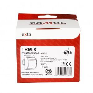 Zamel Exta TRM-8 - Transformator 8VAC/1,88A/15VA, Montaż natynkowy lub na szynie TH - Podgląd zdjęcia nr 5