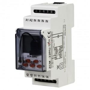 Zamel Exta ZCM-22P/U - Programator czasowy tygodniowo-roczny (astronomiczny) z zewnętrzną pamięcią ustawień na USB, 1-kanałowy (24-250V AC, 30-300V DC) - Podgląd zdjęcia nr 1