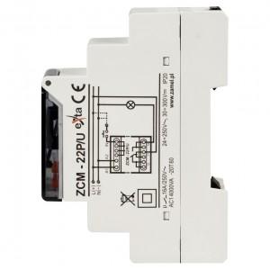 Zamel Exta ZCM-22P/U - Programator czasowy tygodniowo-roczny (astronomiczny) z zewnętrzną pamięcią ustawień na USB, 1-kanałowy (24-250V AC, 30-300V DC) - Podgląd zdjęcia nr 4
