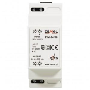 Zamel Exta ZIM-24/06 - Zasilacz impulsowy 24V DC/0,6A/14,4W - Podgląd zdjęcia nr 2