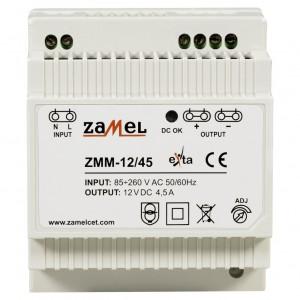 Zamel Exta ZMM-12/45 - Zasilacz impulsowy 12V DC/4,5A/54W - Podgląd zdjęcia nr 2