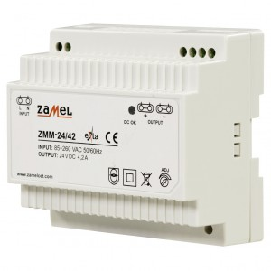 Zamel Exta ZMM-24/42 - Zasilacz impulsowy 24V DC/4,2A/100W - Podgląd zdjęcia nr 1