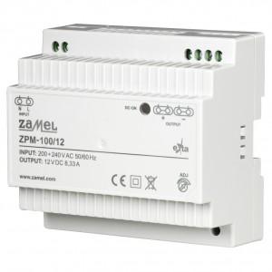 Zamel Exta ZPM-100/12 - Zasilacz impulsowy 12V DC/8,33A/100W - Podgląd zdjęcia nr 1