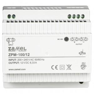 Zamel Exta ZPM-100/12 - Zasilacz impulsowy 12V DC/8,33A/100W - Podgląd zdjęcia nr 2