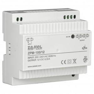 Zamel Exta ZPM-100/12 - Zasilacz impulsowy 12V DC/8,33A/100W - Podgląd zdjęcia nr 3