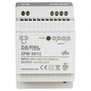 Zamel Exta ZPM-30/12 - Zasilacz impulsowy 12V DC/2,5A/30W - Podgląd zdjęcia nr 2