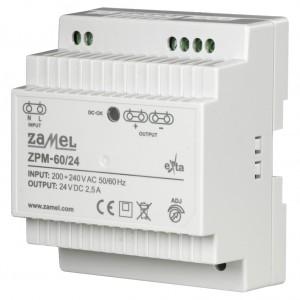 Zamel Exta ZPM-60/24 - Zasilacz impulsowy 24V DC/2,5A/60W - Podgląd zdjęcia nr 1