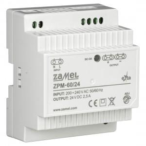 Zamel Exta ZPM-60/24 - Zasilacz impulsowy 24V DC/2,5A/60W - Podgląd zdjęcia nr 3